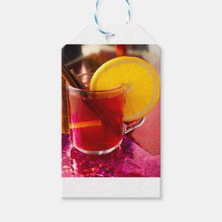 Etiqueta Para Presente Vinho mulled fruta com canela e laranja