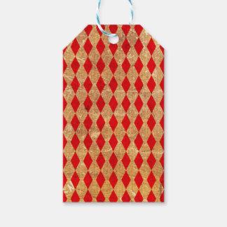 Etiqueta Para Presente Vintage do vermelho do Harlequin