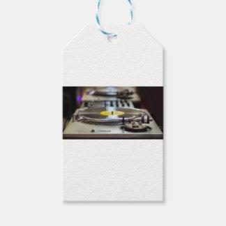 Etiqueta Para Presente Vintage retro gravado plataforma giratória do som
