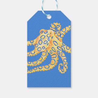 Etiqueta Para Presente Vitral azul do polvo
