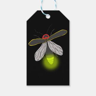Etiqueta Para Presente vôo do inseto de relâmpago iluminado