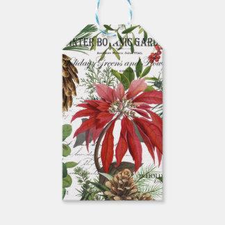 Etiqueta Para Presente Wintergarden moderno do vintage floral