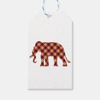 Etiqueta Para Presente Xadrez do elefante
