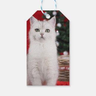 Etiqueta Para Presente XMAS white Cat