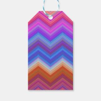 Etiqueta Para Presente ziguezague, colorido, engraçado