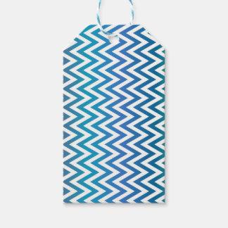 Etiqueta Para Presente ziguezague, colorido, engraçado, azul e verde