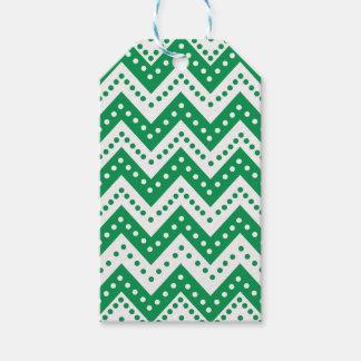 Etiqueta Para Presente Ziguezagues verdes bonitos de Polkadot