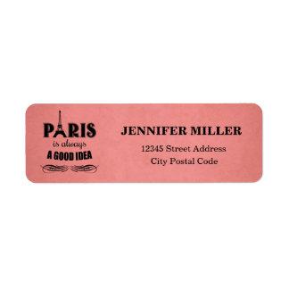 Etiqueta Paris é sempre uma boa ideia