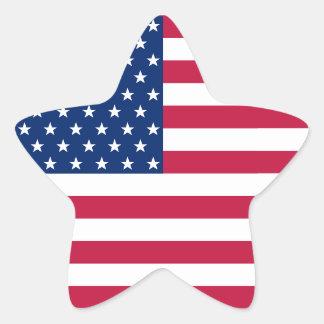 Adesivo Estrela Etiqueta patriótica americana da bandeira das