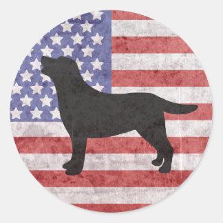 Etiqueta patriótica da bandeira americana do adesivo