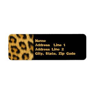 Etiqueta Pele do leopardo, pele, impressão do cabelo