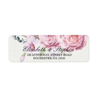 Etiqueta Pena floral Wedding de Boho da aguarela do