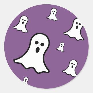 Etiqueta pequena do Dia das Bruxas dos fantasmas
