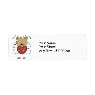 Etiqueta pequenos adoráveis bumble o urso que guardara um