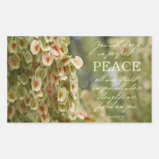 Etiqueta perfeita da paz