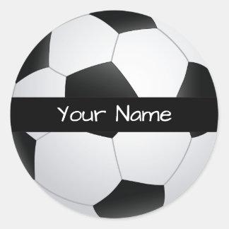 Etiqueta personalizada da bola de futebol