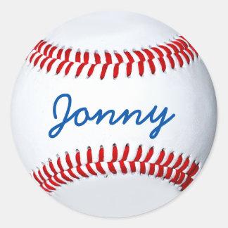 Etiqueta personalizada da foto do basebol adesivo
