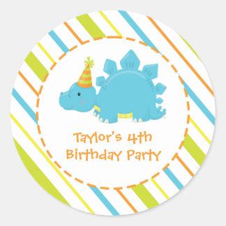 Etiqueta personalizada Dino da festa de