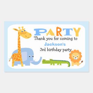Etiqueta personalizada do aniversário dos animais