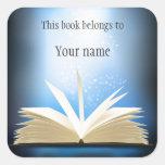 Etiqueta personalizada do Bookplate Adesivo Quadrado