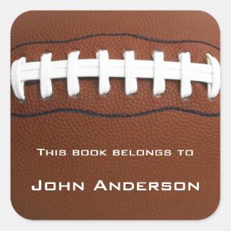 Etiqueta personalizada do Bookplate do futebol