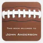 Etiqueta personalizada do Bookplate do futebol Adesivo Quadrado