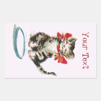 Etiqueta personalizada do gato do gatinho do gato