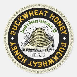 Etiqueta personalizada mel do frasco do mel do adesivo