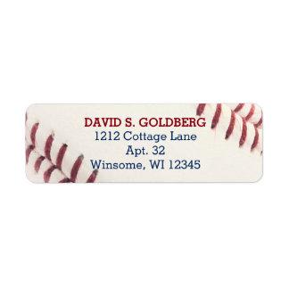 Etiqueta personalizada textura do basebol