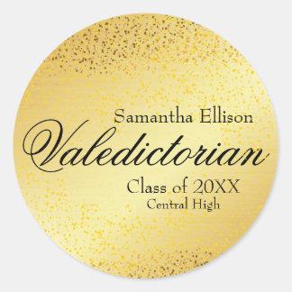 Etiqueta personalizada Valedictorian do ouro do