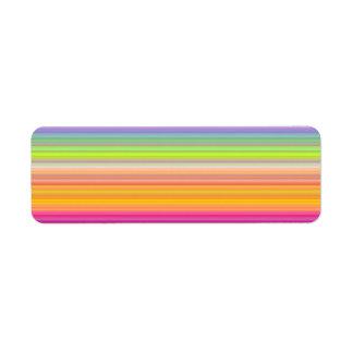 Etiqueta Personalize - o fundo multicolorido do inclinação