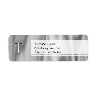 Etiqueta Personalize:  Tecido do cetim das cinzas de prata