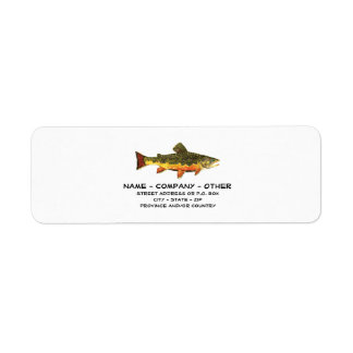 Etiqueta Pescador feito sob encomenda da truta
