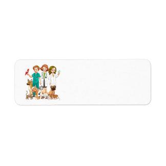 Etiqueta Pessoas veterinárias do fundo