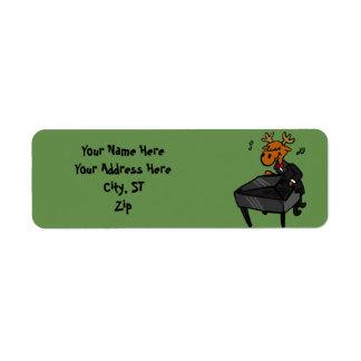 Etiqueta Pianista dos alces