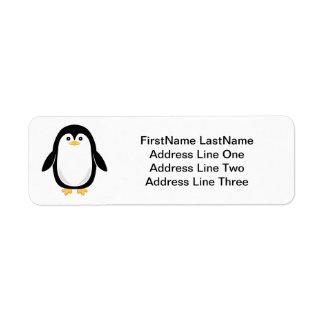 Etiqueta Pinguim pequeno bonito