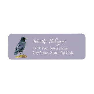 Etiqueta Pintura da aguarela do corvo
