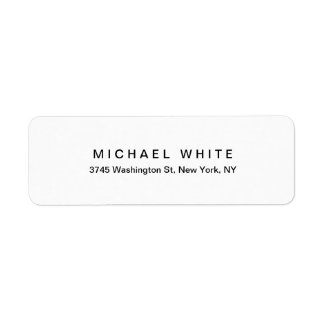 Etiqueta Planície minimalista moderna original branca preta