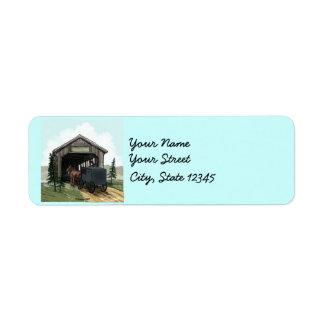 Etiqueta Ponte coberta de Amish