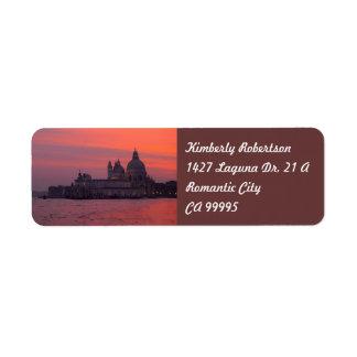 Etiqueta Por do sol em Veneza
