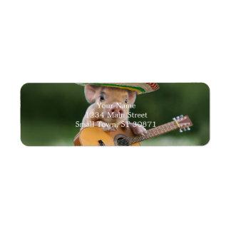 Etiqueta porco mexicano - guitarra do porco - porco