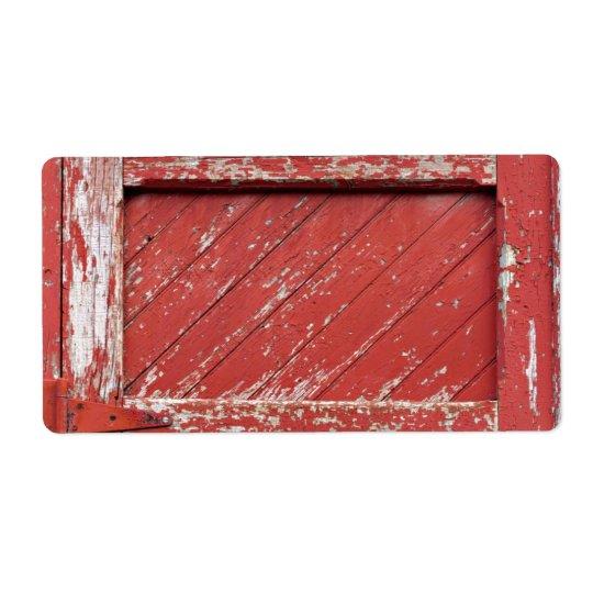 Etiqueta Porta de celeiro de madeira pintada vermelho
