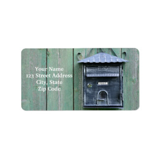 Etiqueta Postcrossing feliz! Caixa postal