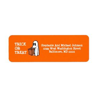 Etiqueta Pouco saco dos doces do Dia das Bruxas da doçura