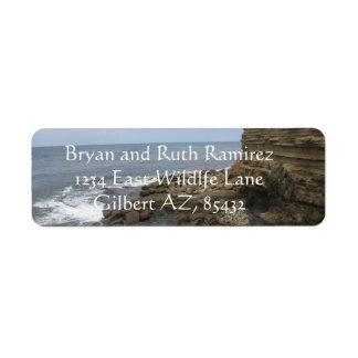 Etiqueta Praia e rochas em San Diego, Califórnia