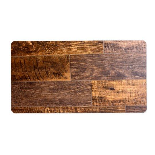 Etiqueta prancha de madeira