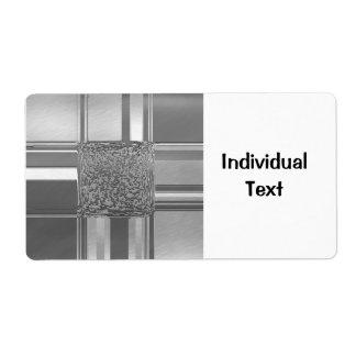 Etiqueta prata 03 da arte do metal