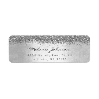 Etiqueta Prata Sparkly de prata do brilho metálica