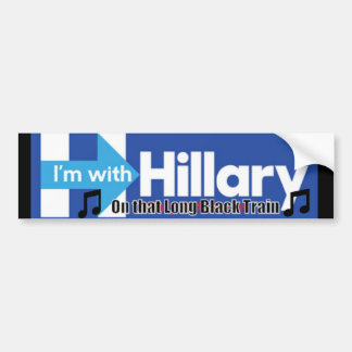 Etiqueta preta longa de Hillary do trem Adesivo De Para-choque