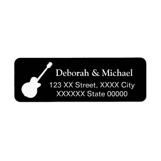 Etiqueta preto do casal da rocha do guitarrista